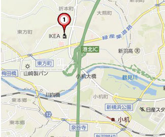 yokohama-ikea-map