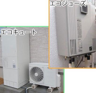 給湯器を比較!エコキュート(電気)かエコジョーズ(ガス)