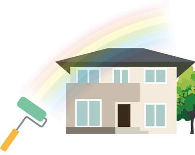 建築面積約100㎡の住宅の屋根と外壁を塗り直すリフォームの見積費用